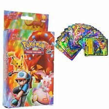 New Hot Pokemon TCG 100PCS FLASH CARD LOT RARE 20GX+20MEGA+59EX+1ENERGY US Cards