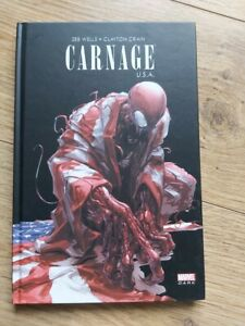 Comics Carnage USA Spiderman Marvel Dark, couverture rigide.