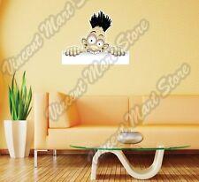 "Fun Shocked Cartoon Character Face Funny Wall Sticker Room Interior Decor 25X20"""