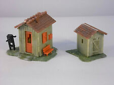 Two Faller HO Scale Train Scenery Accessorie Building Lineside Tool Shed Shack