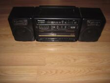 Panasonic RX-CT840 Boom Box AM/FM Radio/Dual Cassette Ghetto Blaster/Free Ship!