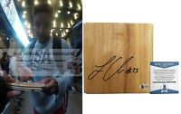 Layshia Clarendon NY Liberty Autograph Signed Basketball Floor Board BAS Beckett