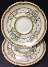 """ROYAL DOULTON THE LORRAINE PATTERN 2 SAUCERS (S) 5 3/4"""""""