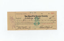 1932 Roane County check Signed Charles A Lynch, Roy Lee McCulty & Eldridge Engle