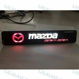 Car Front Grille Badge Emblem Illuminated Bumper Sticker For MAZDA LED Light New