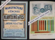 Rare & superbe catalogue MANUFACTURE D'ENCRES ANTOINE & FILS (1895) Cires Ink