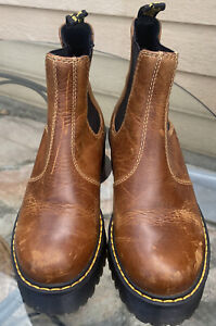 Dr. Martens Chelsea Rometty (AW004) Brown Boots Women's US 6L