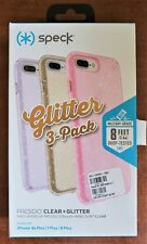 Speck Presidio Clear Glitter Case 3 Pack Set for iPhone 8 Plus iPhone 7 Plus NEW