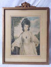 Vintage Lady Betty Compton Portrait Print 1929 Original by Sir Joshua Reynolds