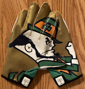 NOTRE DAME FOOTBALL TEAM ISSUED 2012 IRELAND GLOVES NEW 2XL
