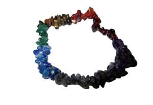 Jet Chakra Chips Bracelet Healing Peace Positive Energy Natural Crystal Gemstone
