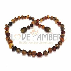 Boys Girl Genuine Raw Green Baltic Amber Necklace Love Amber x Enchanted