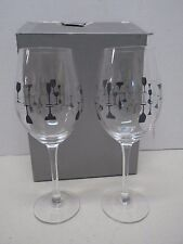 Charter Club Grand Buffet Clink 2 Wine Glasses 17.1 oz New in box