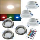 RGB-warmweiß LED Einbauleuchte IP44 230V 5W mit Fernbedienung Außen Innen Bad A+
