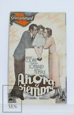1934 Now and Forever Movie Advertising Leaflet - Shirley Temple, Gary Cooper