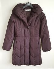 LARRY LEVINE LADIES BROWN DOWN PADDED COAT SIZE XS UK 6-8