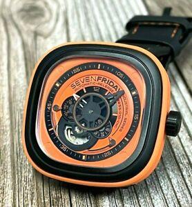 SevenFriday P1/03 P-Series Orange Analog Display Automatic Men's Watch