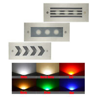 RGB LED Stair Step Recessed Wall Light Outdoor Garden Waterproof Lamp 2W 85-265V