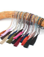LONG ORANGE BUDDHA HEAD BEADED TASSLE MULTI TIERED BOHEMIAN STYLE NECKLACE. BNWT