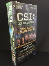 ~ BRAND NEW CSI BOARD GAME [Crime Game & Booster Pack #1]