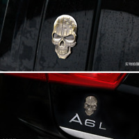 Metal 3D Bronze USA American Flag Skull Car Trunk Emblem Badge Decal Stickers