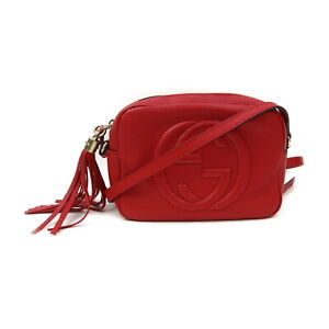 Gucci Shoulder Bag Soho Reds Leather 1417120