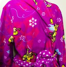 "Disney Tinkerbell Robe Girls fairies Purple  Plush bathrobe 36"" Warm Winter"
