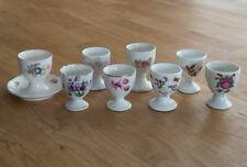 (EK3) Sammler-Konvolut Eierbecher mit Blumenmotiv, Porzellan/Keramik, div.Marken