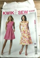 Kwik Sew K3929 Misses Vintage Style Dresses Size XS-XL Uncut Sewing Pattern