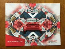 2015 Toyota US Plant Operations booklet information pamphlet