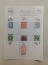 1984 - Australia - Ausipex 84-World Philatelic Exhibition Mini Sheet MNH