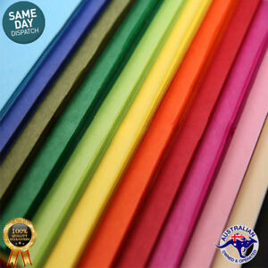 Tissue Papers Mixed CHRISTMAS COLORS Acid Free 21gsm Gift Wrap - Premium Qlty