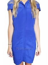Maurie & Eve Dress Size 10 Aus NWT Cobalt Blue Coco Lace Shirt