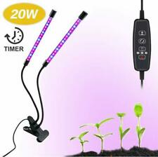 20W Dual Head LED Plant Grow Light Lamp With Desk Clip Holder for House Plants