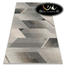 "NATURAL WOOL AGNELLA RUGS ""MAGNETIC"" geometric grey modern designs best carpets"