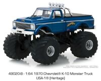 Greenlight 1970 Chevrolet K-10 Monster Truck USA-1 Heritage 1/64 bigfoot 49020B