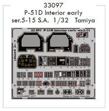 Eduard 1/32 P-51D Mustang Interior temprano ser. 5-15 auto-adhesivo
