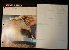 Allied Flexa-Hopper 2-page Brochure, color-illustrated, and Price Sheet 1975