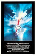 "SUPERMAN 1978 Original 27x41"" One Sheet Movie Poster Christopher Reeve M Kidder"