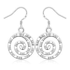 925Sterling Silver Jewelry Lovely Round Thread Woman Fashion Earrings EW353