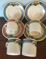 4 Vintage Espresso Cups & Saucers made for Farberware in Germany