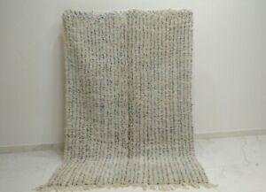 Lovely Vintage Beni Ourain Rug Moroccan Berber Handmade wool Carpet 6″x8″ feet