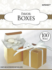 100 x 50th Anniversary FAVOUR BOXES Golden Wedding Gold Party Table Favour Boxes