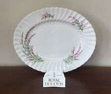 """Royal Doulton BELL HEATHER SCALLOPED 17"""" Oval Serving Platter (A)"""