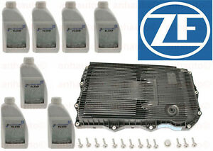OEM ZF Transmission Pan & 7L Automatic Trans Fluid Kit For Jaguar Land Rover