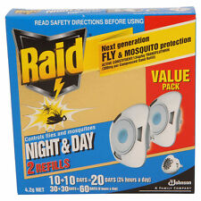 Raid Night And Day Twin REFILLS for electronic mosquito repellent (2pc)