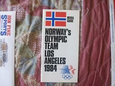 1984 NORWAY OLYMPIC TEAM MEDIA GUIDE Yearbook Olympics Program GRETE WAITZ