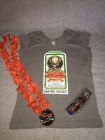 NHRA JAGERMEISTER RACING GRAY T - SHIRT LANYARD AND LEI WOMENS SIZE M