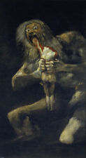 Saturn Devouring One...  by Francisco de Goya  Giclee Canvas Print Repro