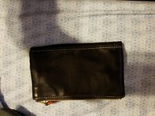 Used Dooney and Bourke Smooth Leather Black Zippered Wallet